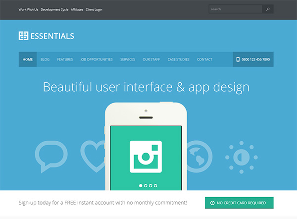 Flat WordPress Theme Design and 22 Examples