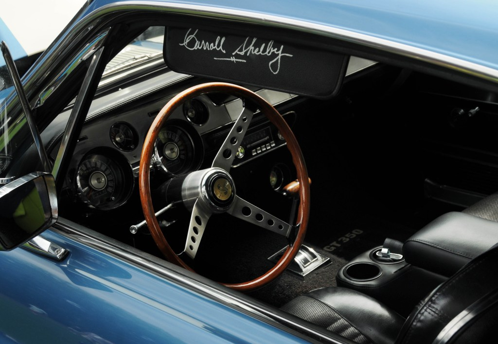 Shelby Mustang GT350 signed by the legend himself.