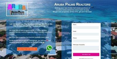 Aruba Palms Realtors Laning Page