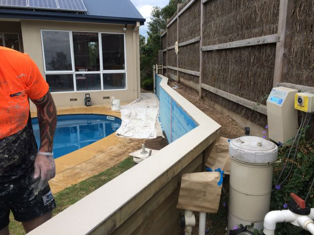 retaining wall makeover in