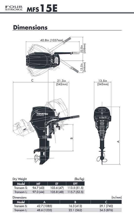 Tohatsu 15HP 4-stroke