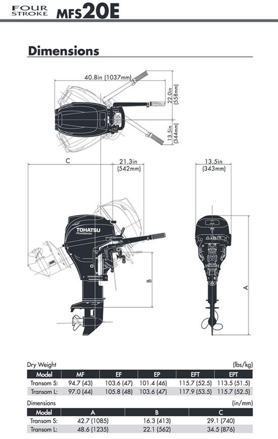 Tohatsu 20HP 4-stroke