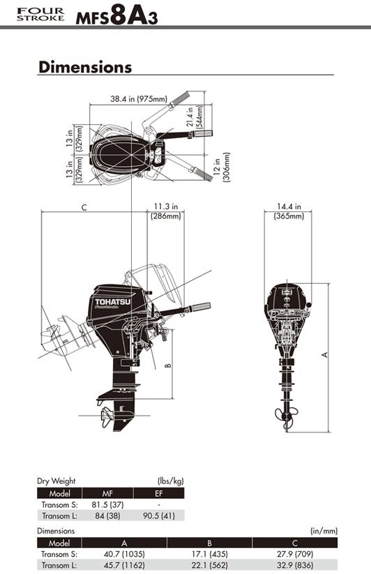 Tohatsu 8HP 4-stroke