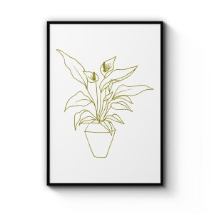 Abstract Peace Lily Art