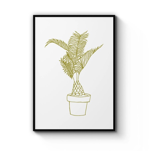 Abstract Date Palm Wall Art
