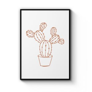 Angel Wings Cactus Art