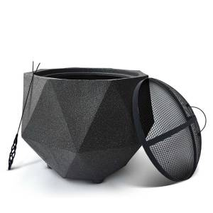 Octagon Outdoor Portable Fire Pit Bowl