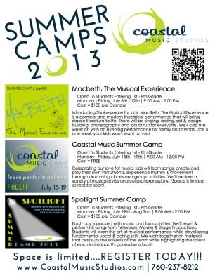 2013 Summer Camp Flyer