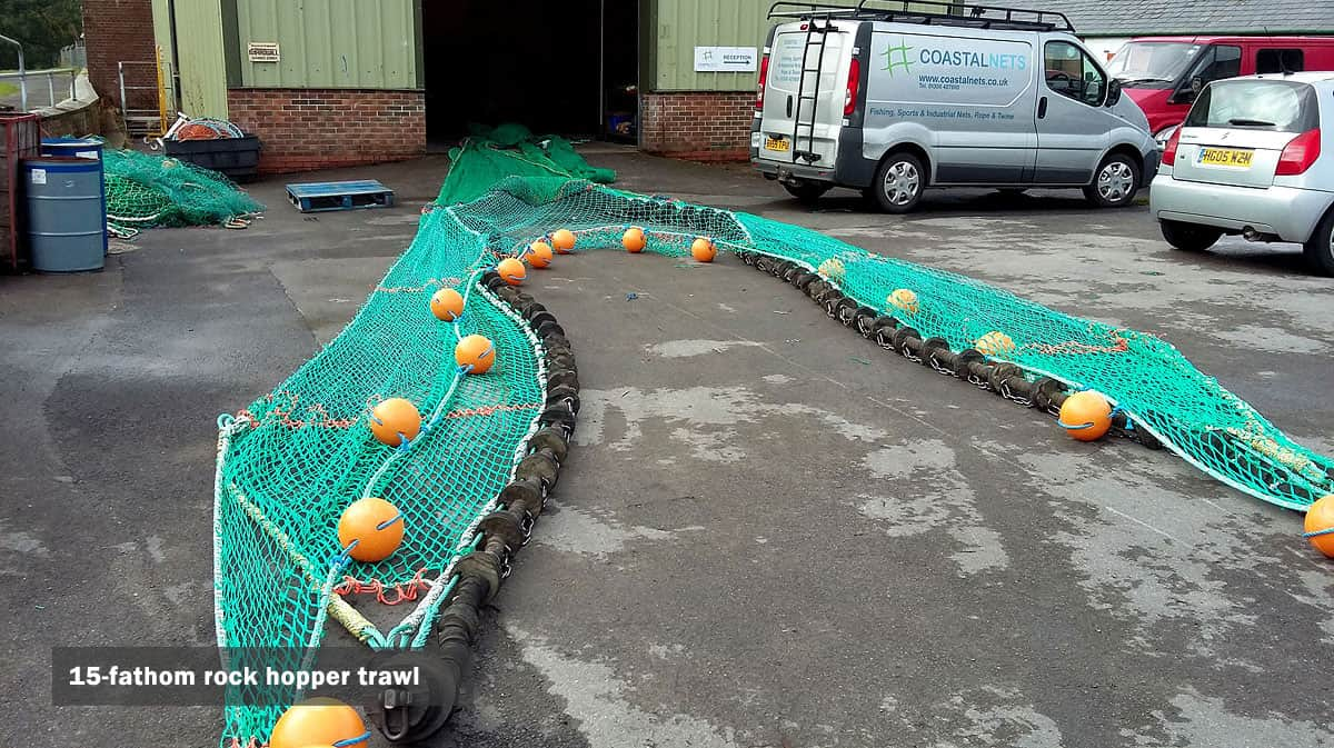 15-fathom rock hopper trawl net