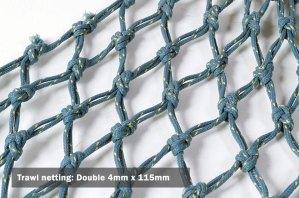 Trawl netting: Double 4mm x 115mm