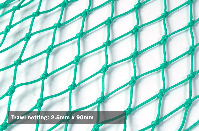 Trawl netting: 2.5mm x 90mm