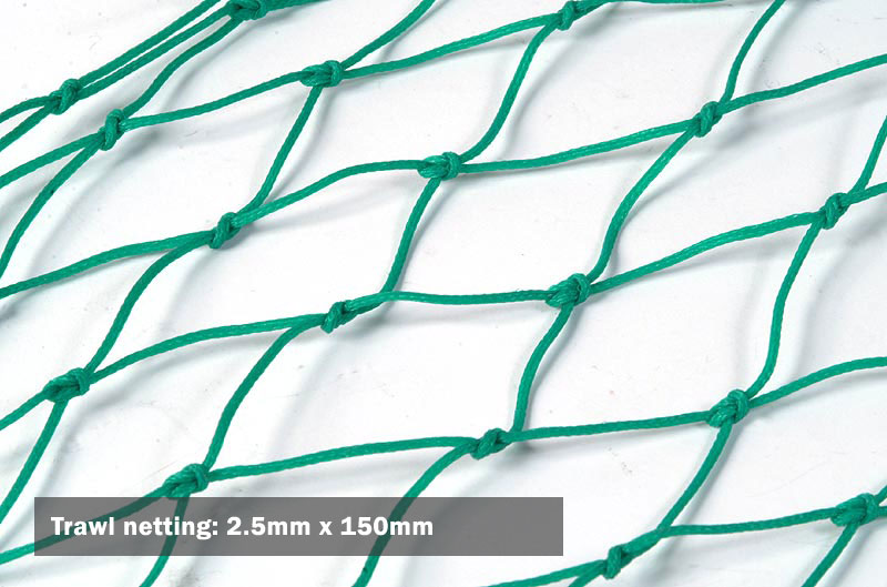 Trawl netting: 2.5mm x 150mm