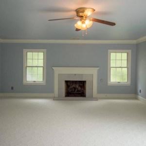 Light Blue Painted Living Room