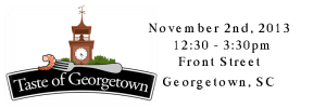 Taste of Georgetown logo and dates