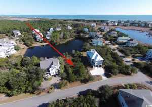 Lot 50 Ocean Oaks with arrow