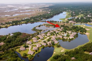 Marsh Lake Villa Aerial