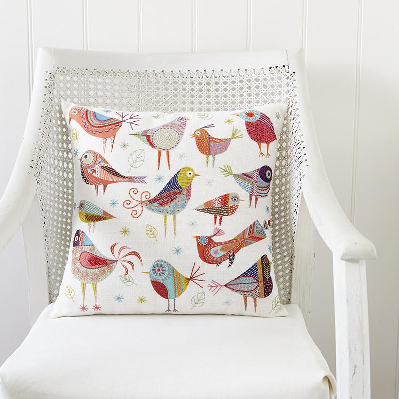 bird dance embroidery kit by nancy nicholson