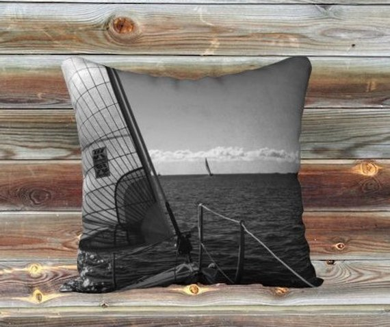 boat pillow, nautical