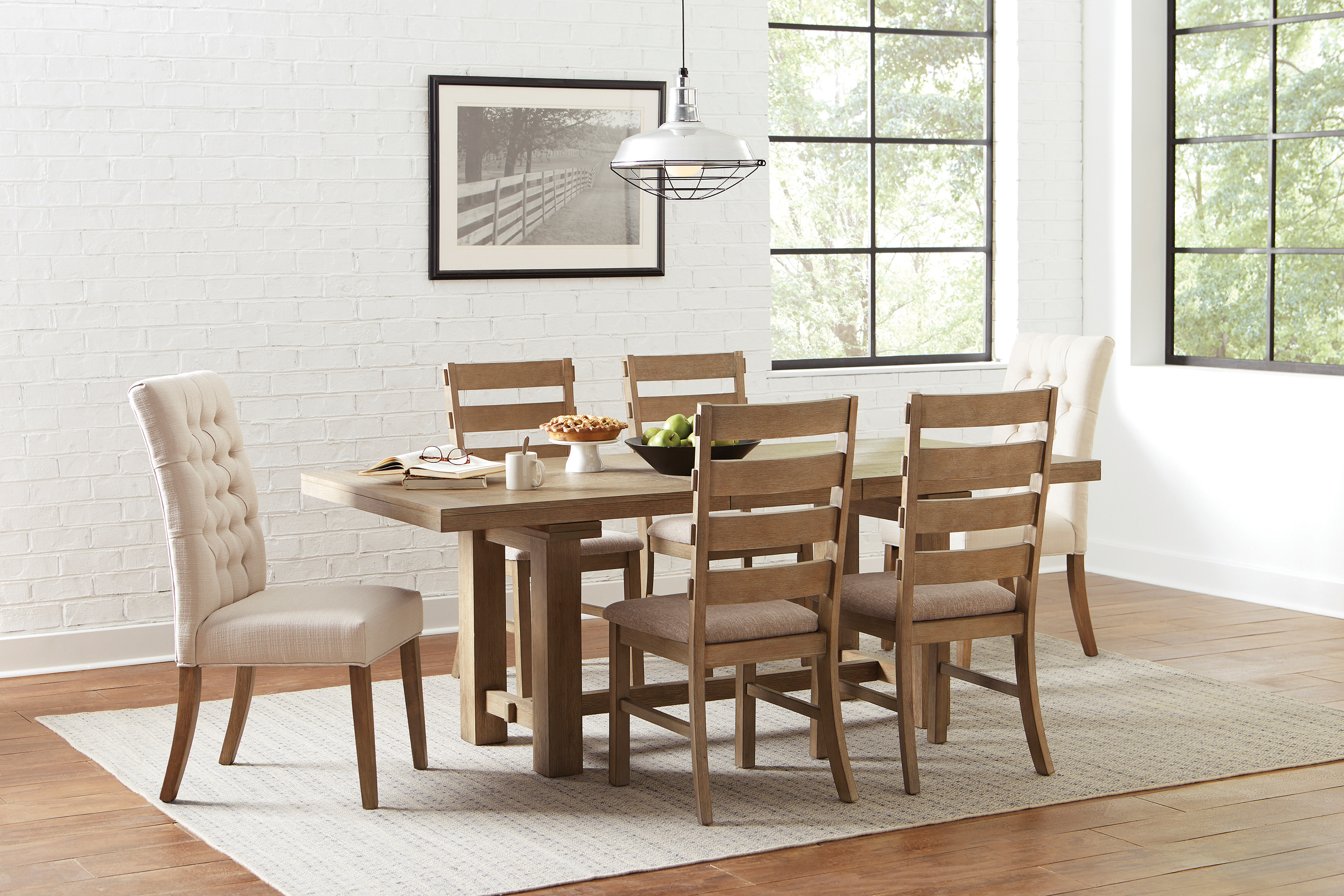 Gadsden Tufted Back Dining Chairs Vineyard Oak Set Of 2