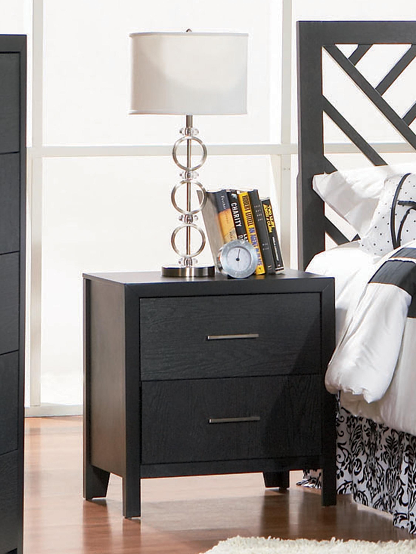 Grove 2 Drawer Nightstand Black Coaster Fine Furniture