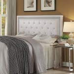 Andenne Queen Full Tufted Upholstered Headboard White Coas