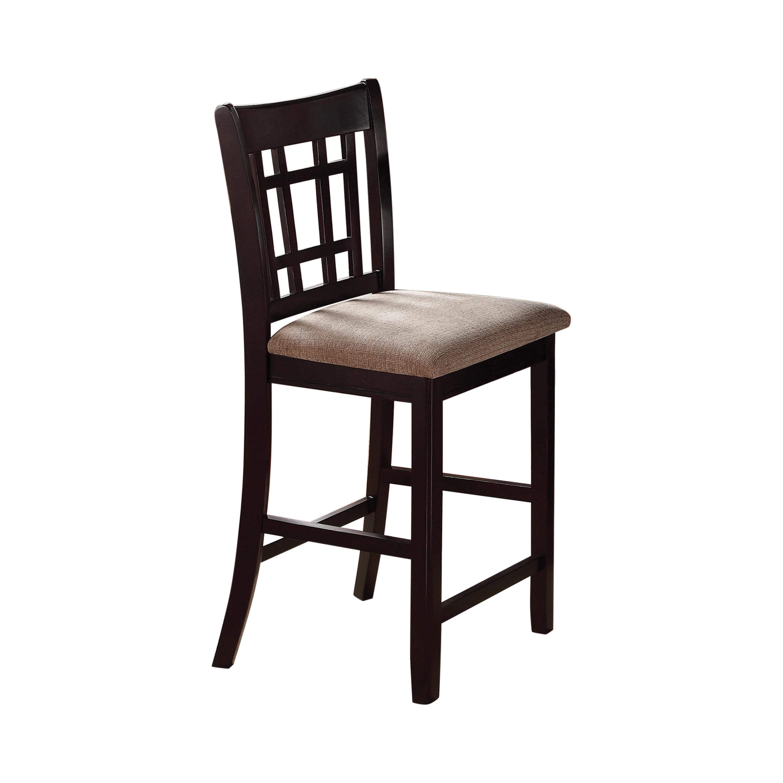 Lavon Lattice Back Counter Stools Tan And Espresso Set Of 2 Coaster Fine Furniture
