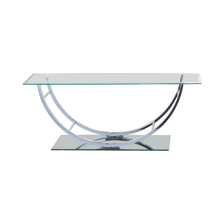 u shaped coffee table chrome coaster