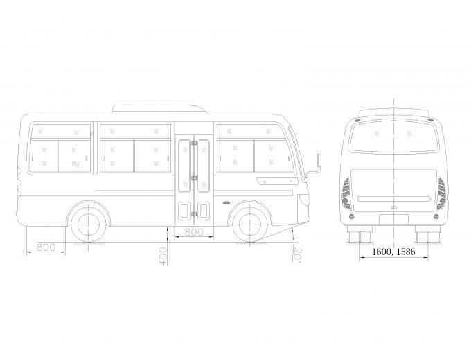 91-110 Km / H Star Travel Buses 19 Passenger Van For