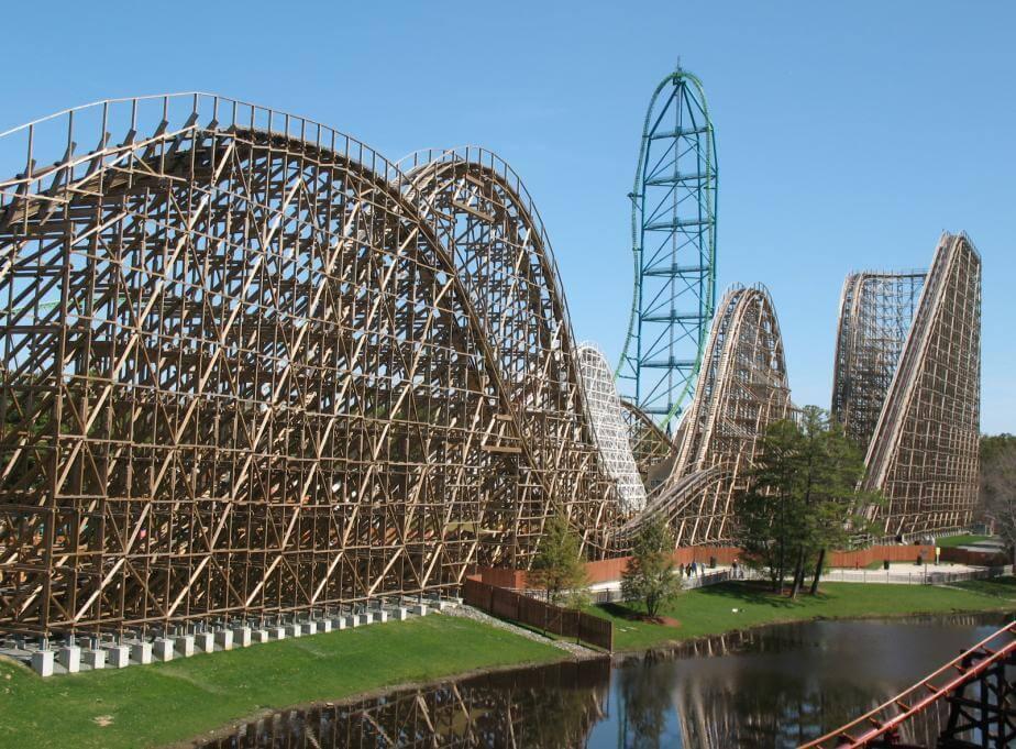 el toro wooden coaster with steepest drop coaster stop