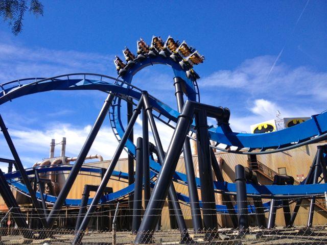 Batman: The Ride at Six Flags Magic Mountain.