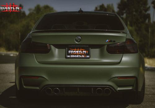 BMW M3 w/ Carbon Fiber Rear Trunk Spoiler and Bumper Diffuser