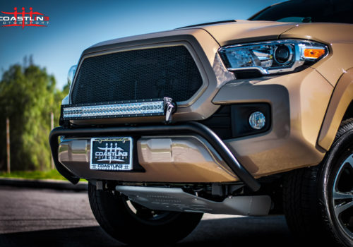 Toyota Tacoma w/ Offroad Bull Bar, Skid Plate, and Front Grille
