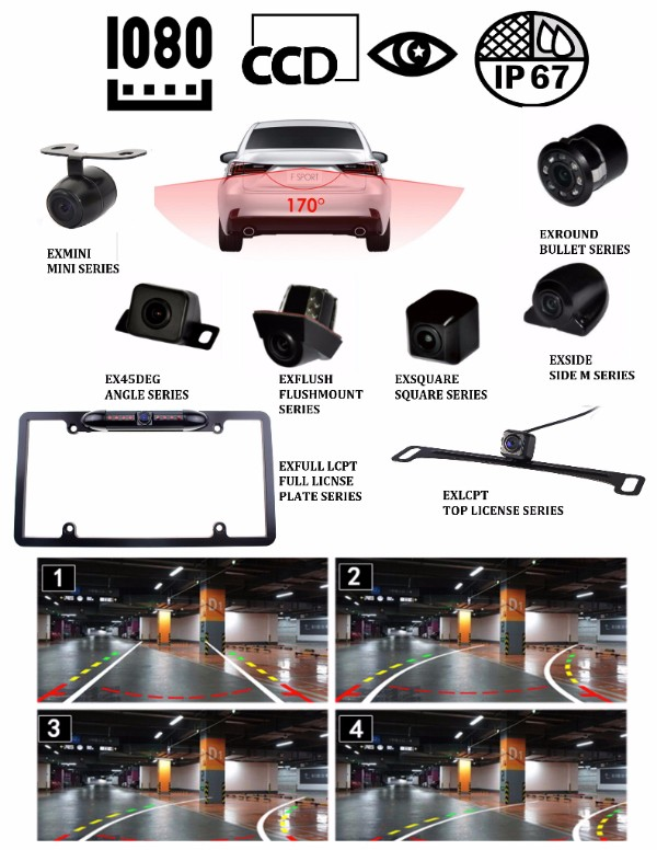 Exclusive LED Backup Camera Options