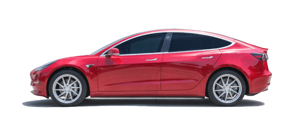 Tesla Model 3 with Stock Springs