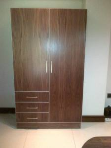 Custom furniture seen here is some Melamine cabinetry with quality edging