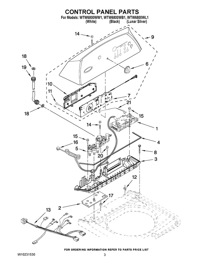 Whirlpool Cabrio Washer Parts Diagram