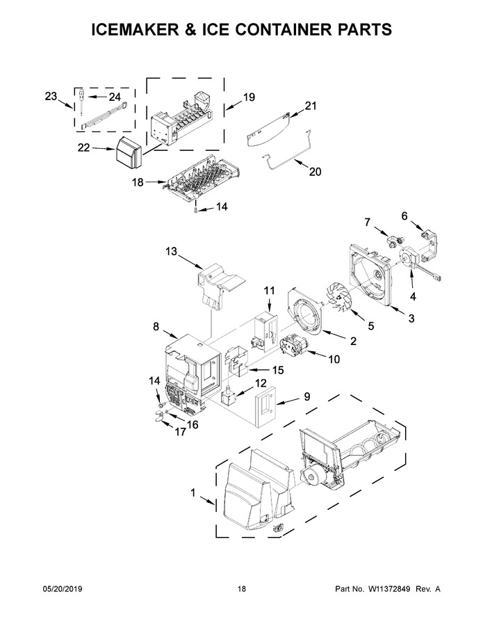 whirlpool wrx735sdhz01 parts list