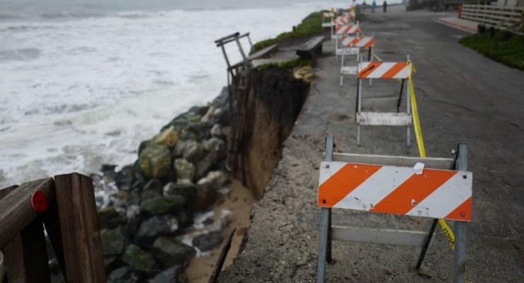 Miramar Bluffs Crumbling At An Alarming Rate