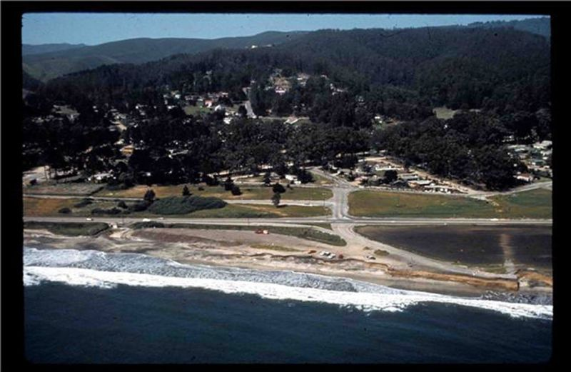 Aerial photo of El Granada in 1972.