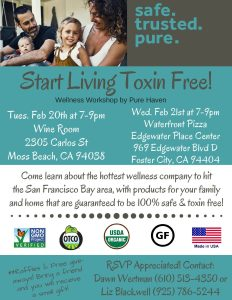 Start Living Toxin Free @ Wine Room | Moss Beach | California | United States
