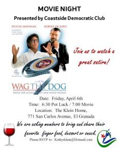 Movie Night ~ Wag the Dog @ Klein home | Half Moon Bay | California | United States