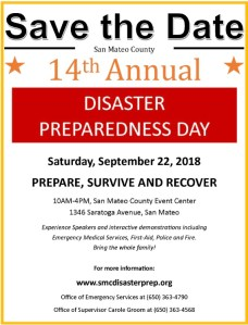 14th Annual San Mateo County Disaster Preparedness Day @ San Mateo County Event Center | San Mateo | California | United States