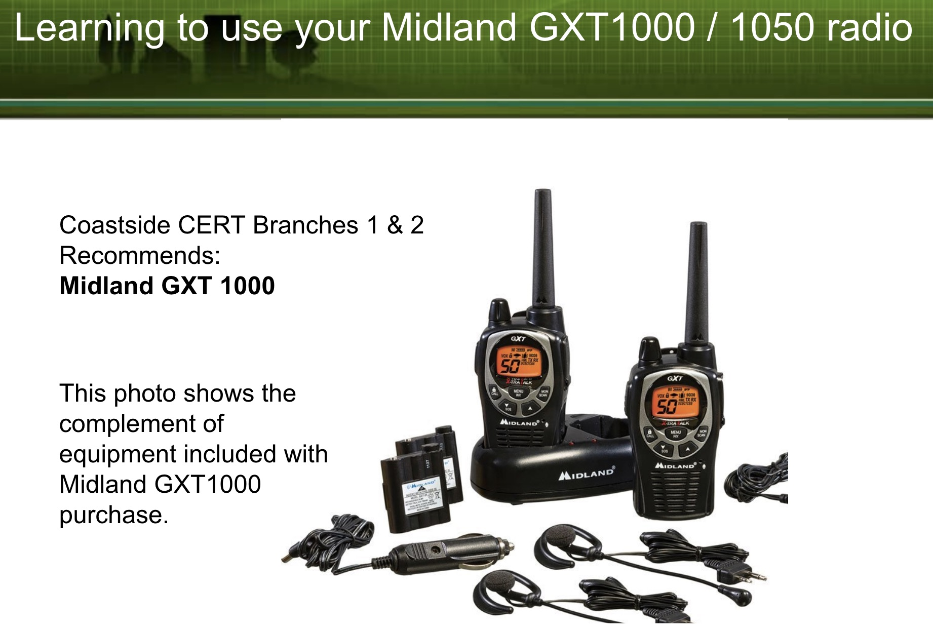 FRS/GMRS Radio (WalkieTalkies) Basic Training ~ Learn How to