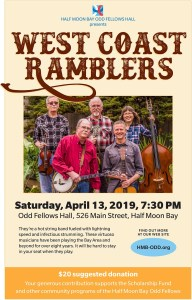 West Coast Ramblers ~ Hot String Band at the Odd Fellows Dance Hall @ Odd Fellows Hall | Half Moon Bay | California | United States