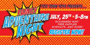 Fog Town Toys Presents Family Adventure Night Scavenger Hunt @ Fog Town Toys | Sag Harbor | New York | United States