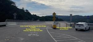 Closure Lower Crystal Springs Dam Bridge to Cars on Weekdays; Trail is Open @ Lower Crystal Spring Reservoir Dam Bridge | Redwood City | California | United States