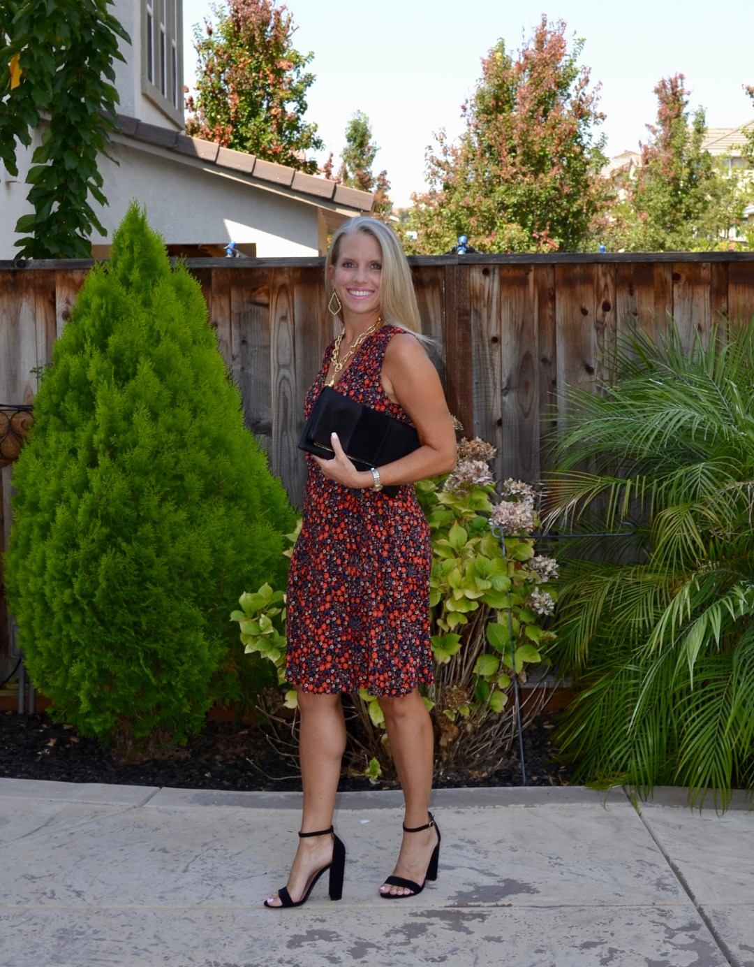 Faux Wrap Dress For Easy Transitioning