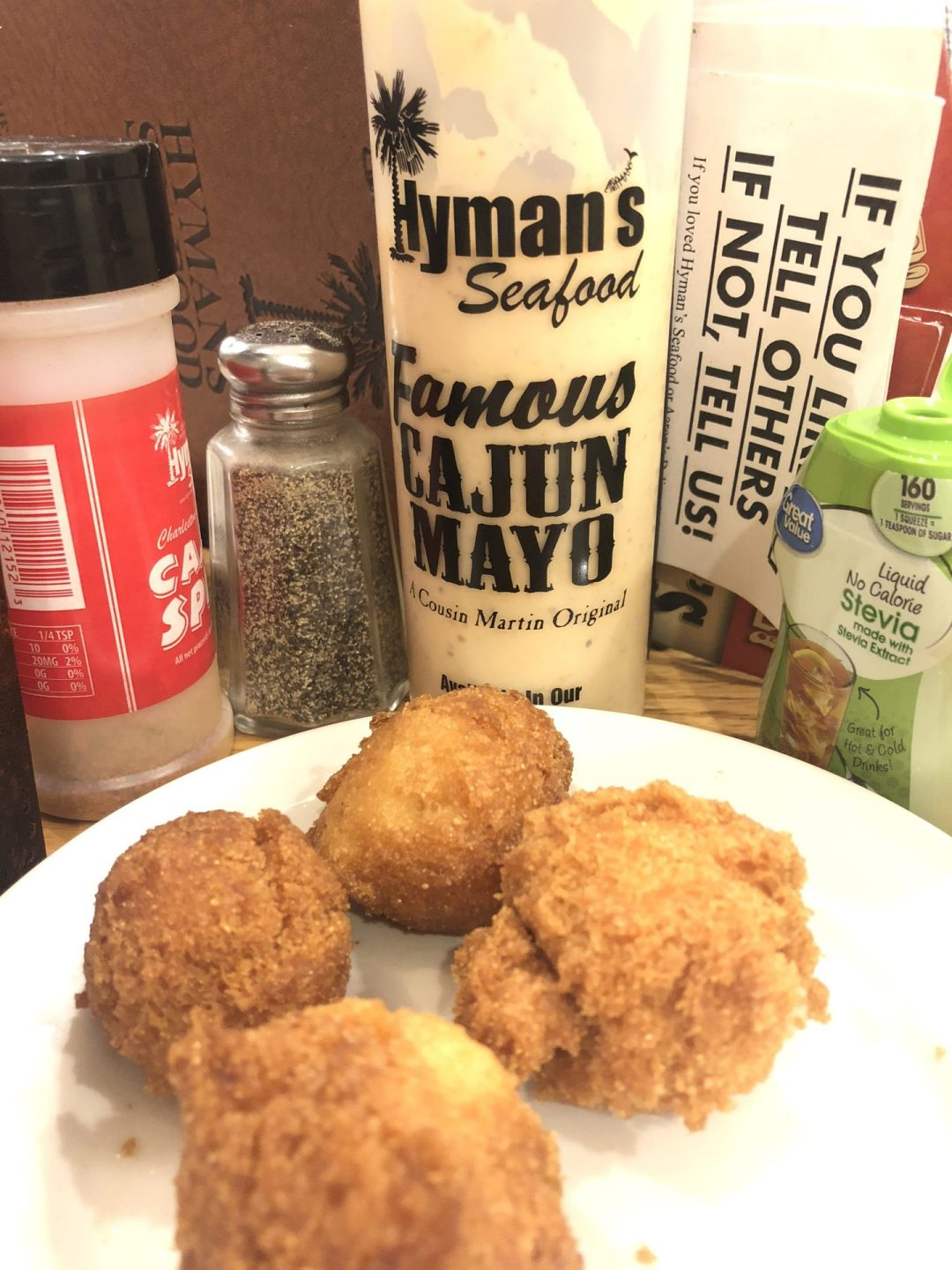 HYMAN'S, CHARLESTON, SC, HUSH PUPPIES