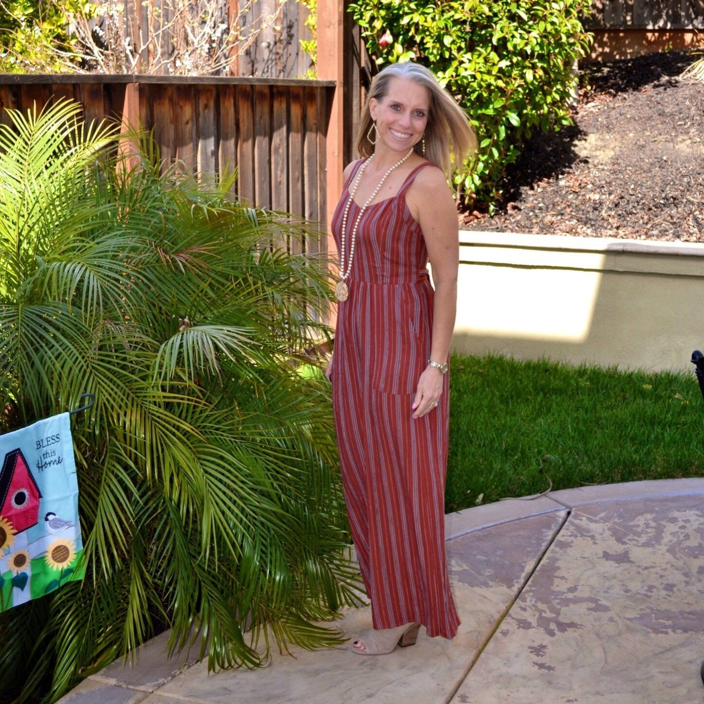 A Jumpsuit & Easter Tiered Trays