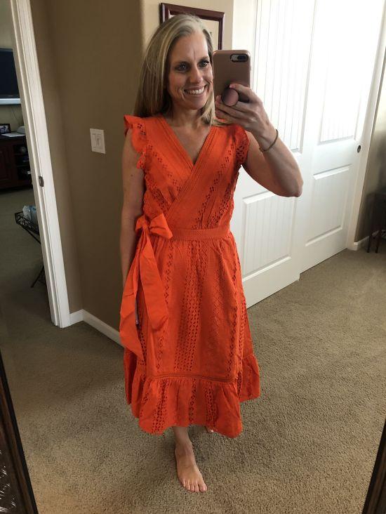 J Crew Eyelet Wrap Dress